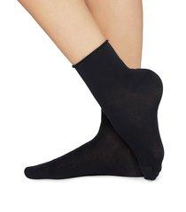 calzedonia - light cotton socks with comfort cuff, 36-38, blue, women