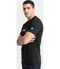 bmw m motorsports logo-t-shirt voor heren, zwart, maat s | puma