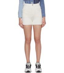 cashmere-cotton blend shorts