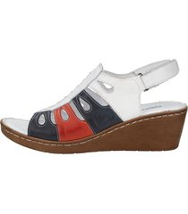 sandaletter gemini vit::marinblå::röd
