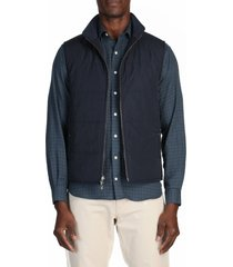 men's alton lane mcfly water resistant reversible vest, size xx-large r - blue