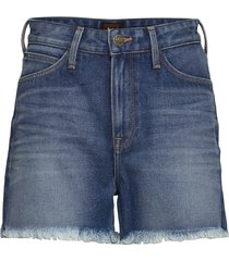 mom short shorts denim shorts blå lee jeans