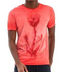 t-shirt von der volke dupla face tulipa - vermelha - vermelho - masculino - dafiti