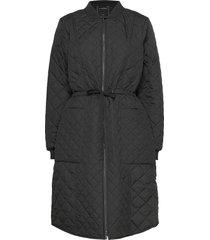 coat gevoerde lange jas zwart ilse jacobsen