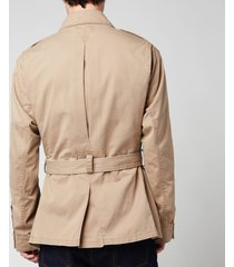 polo ralph lauren men's cotton twill paratrooper jacket - desert khaki - l
