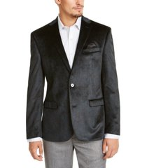 bar iii men's slim-fit green paisley velvet sport coat, created for macy's