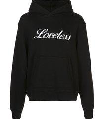 amiri loveless embroidered hoodie - black