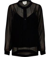 tul blouse blouse lange mouwen zwart second female