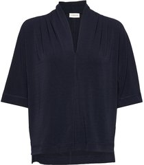 bijana blouses short-sleeved blå by malene birger