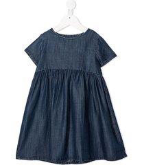 violeta e federico short-sleeved denim dress - blue