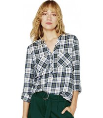 blusa camisera con algodón ecológico esprit