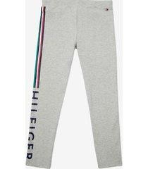 tommy hilfiger girl's adaptive signature stripe legging light grey heather - xs