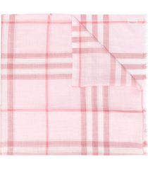 burberry stripe panel scarf - red