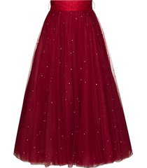 anouki swarovski-studded tulle skirt - red