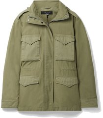 field m65 hooded twill-trimmed cotton-canvas jacket