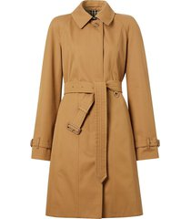 burberry single-breasted belted coat - neutrals