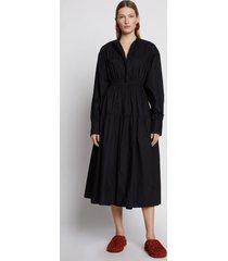 proenza schouler poplin open back dress black 8