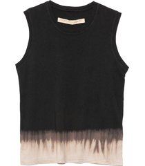 fitted muscle tee in black horizon