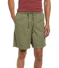 l.l.bean organic cotton twill dock shorts, size large in deep olive at nordstrom