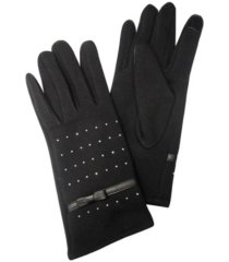 studded jersey touchscreen glove