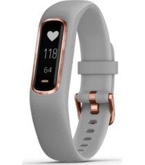 garmin unisex vivosmart 4 activity tracker gray bracelet watch 6x17mm