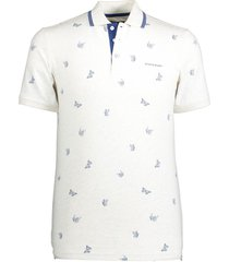 poloshirt state of art wit met vlinderprint