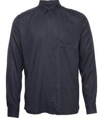 laurent tencel shirt overhemd casual blauw les deux