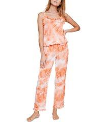 reverie rosalyn sunburst tie-dyed cami pajama set