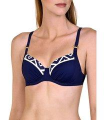 bikini lisca topzwempak met beugel in costa rica blauw
