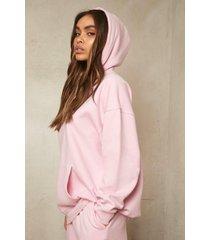 oversized gerecyclede hoodie, pale pink