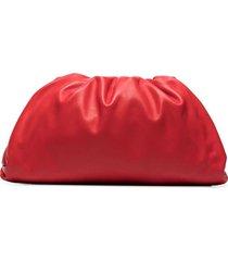 lambskin pouch clutch