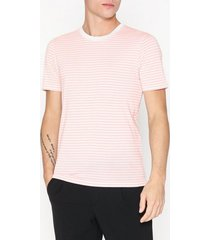 selected homme slhtheperfect stripe ss o-neck tee t-shirts & linnen ljus rosa