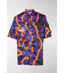 gcds abstract print multi-pocket shirt