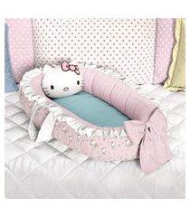 ninho bebê redutor berço rosa hello kitty grão de gente rosa