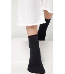 calzedonia light cotton socks with comfort cuff woman blue size 39-41
