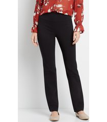 maurices womens pull on black bengaline bootcut pants