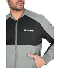 chaqueta para hombre doble combinación gris negro dreamer