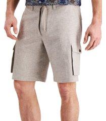 "tasso elba men's marco cargo 10"" shorts, created for macy's"