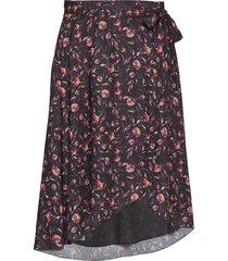 ulla knälång kjol svart fall winter spring summer