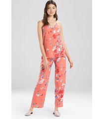 flora- the siesta pajamas set, women's, pink, size l, josie