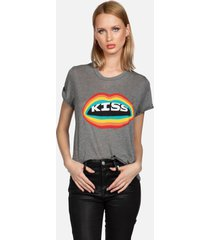 capri rainbow kiss lip - xl heather grey