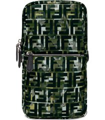 fendi camouflage ff print one-shoulder backpack - green