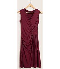 vestido drapeado vino 6