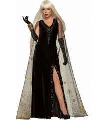 buyseasons women's celestial dress with cape adult costume