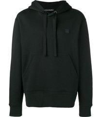 face drawstring hoodie