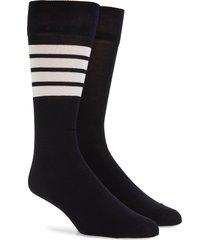 men's thom browne bar stripe socks, size one size - blue