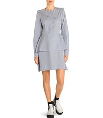 organic cotton striped tiered short dress
