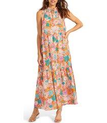 bb dakota by steve madden california soul print halter dress, size large in multi at nordstrom