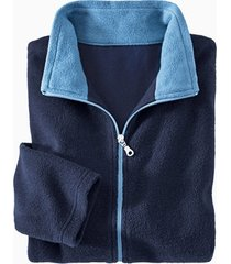 fleece jas, nachtblauw/jeans xxl