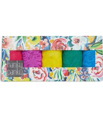 hanky panky assorted 5-pack lace original rise thongs in summer 2021 at nordstrom